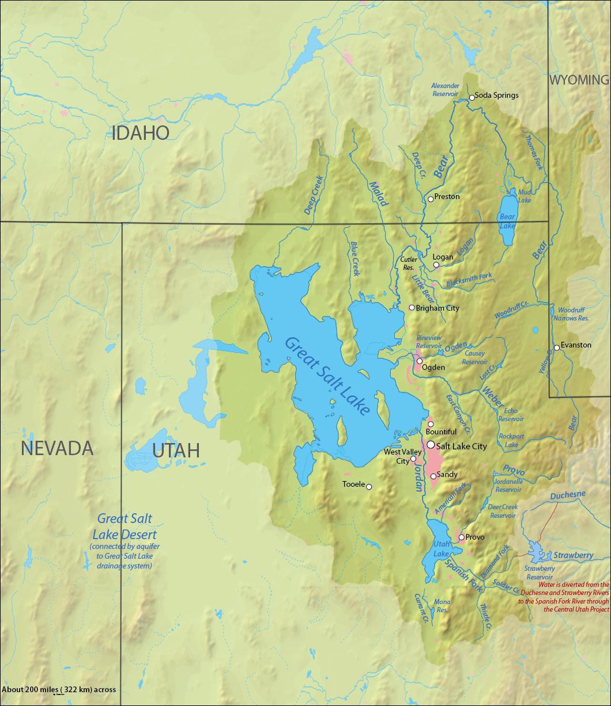 Image Great salt lake drainage mapjpg Turtledove FANDOM