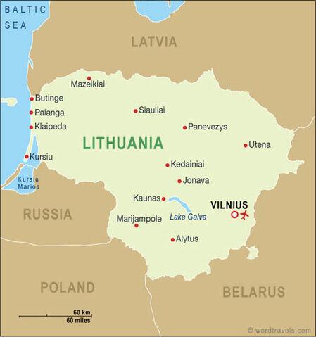 Image Lithuania Mapjpg Turtledove FANDOM Powered By Wikia - Lithuania map
