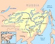 Amur River Map