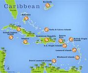 Carribean map