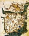 Map of Constantinople (1422) by Florentine cartographer Cristoforo Buondelmonte-1-.jpg