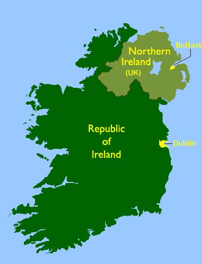 Republic Of Ireland And Northern Ireland Map.Ireland Turtledove Fandom Powered By Wikia