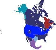 North America, post-Second Great War (Southern Victory)