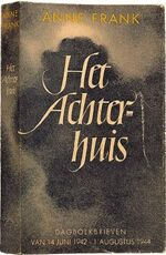 Het Achterhuis (Diary of Anne Frank) - front cover, first edition-1-