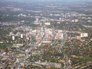 Arial photo of downtown Kitchener Ontario-1-