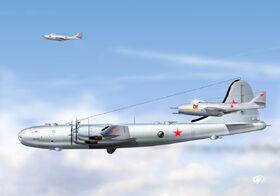 Tu-4 MiG-9 ImpSide Art