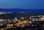 Roanoke City (Virginia) from Mill Mountain Star at Dusk-1-