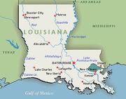 Louisiana-map