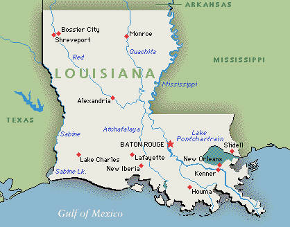 Image Louisianamapjpg Turtledove FANDOM Powered By Wikia - Louisana map