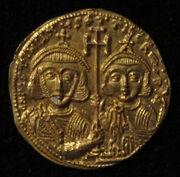 Monete d'oro di giustiniano II e tiberio IV, 705-711, 02, 5-1-