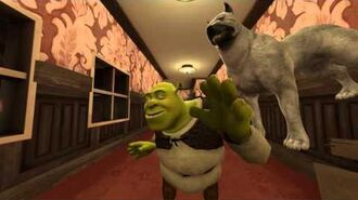 SFM Shrek gets spooked.
