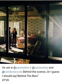 TVD BTS 6x19 candice paul