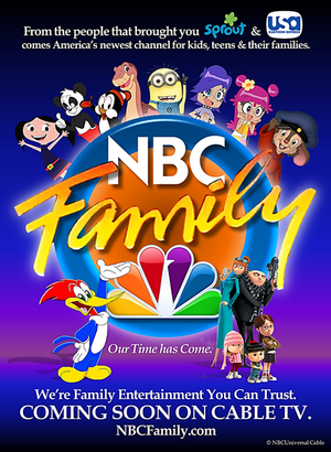 NBC Family teaser print ad - Family Entertainment You Can Trust