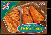 Swanson English Style Fish & Chips TV dinner