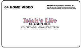 Isaiah's Life Season 1 VHS Label