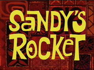 Sandy's Rocket title