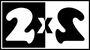 Логотип 2х2 использовался в эфире (1994-97)