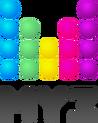 Муз-ТВ 10 зеркальный (чёрные буквы)