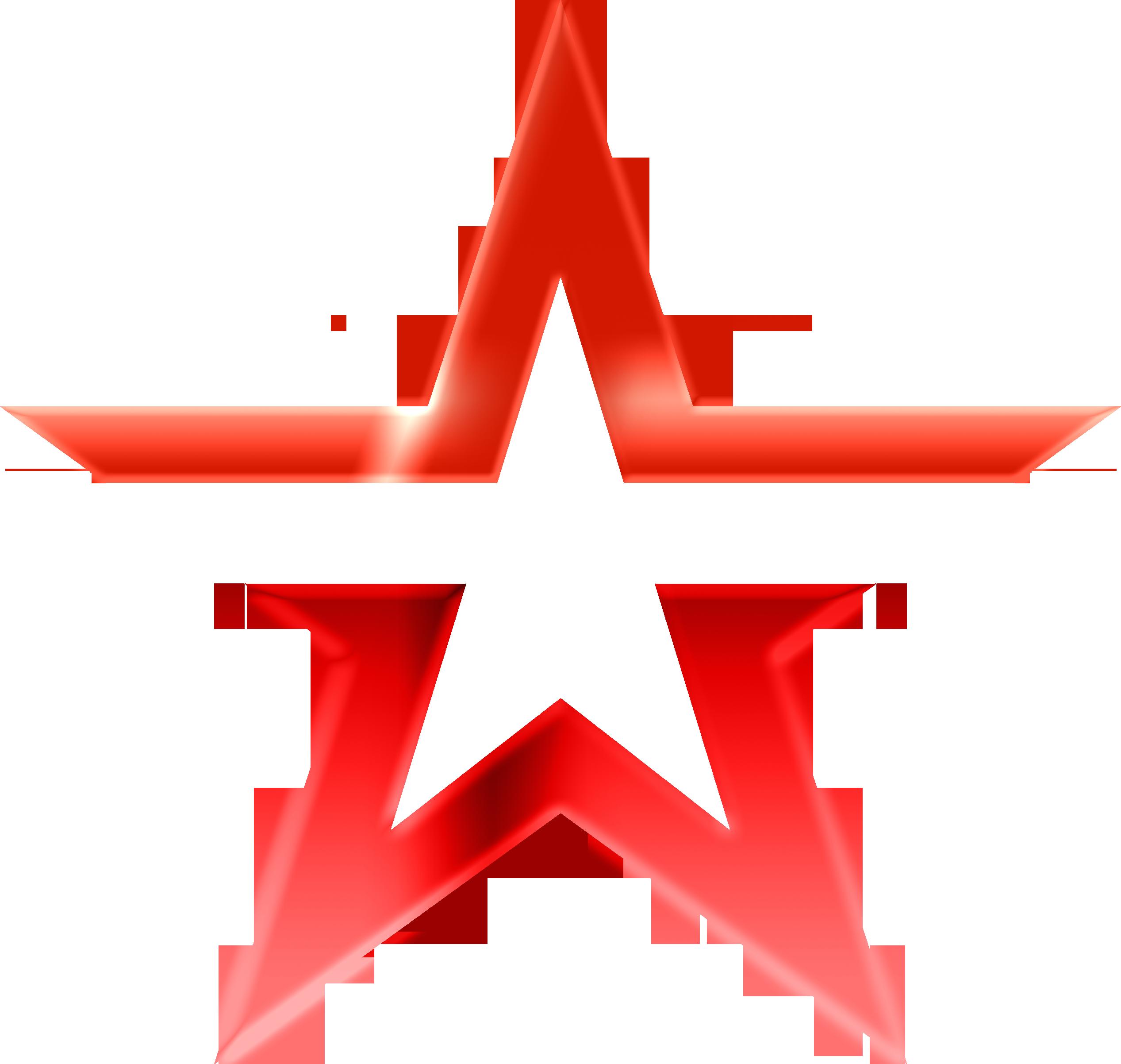 Звезда 5 (без надписи, зеркальный, красный)