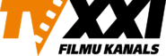 TV XXI 1 (оранжевые буквы TV, чёрные буквы XXI)