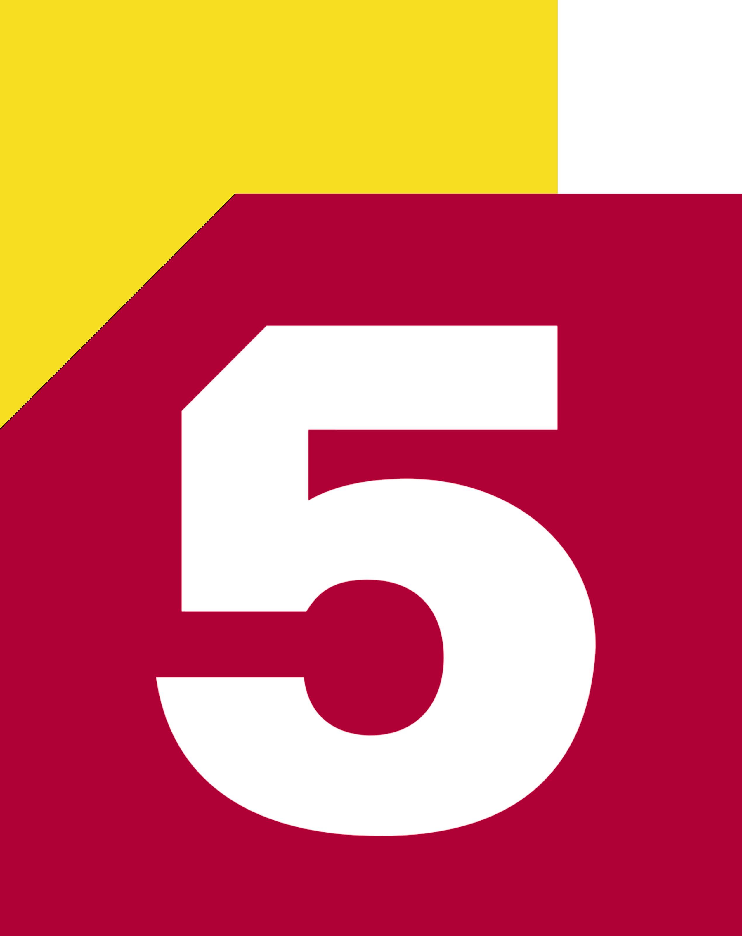 Пятый канал (жёлтая толстая полоса)