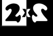 2х2 (1994-1997, с надписью Телеканал, использовался в прессе)