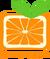 Апельсин без надписи оранжевый