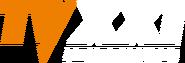 TV XXI 1 (оранжевые буквы TV, белые буквы XXI)