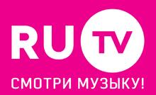 RU.TV (2014, розовый фон, со слоганом)