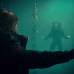 Clary's vision of the lake being a mirror