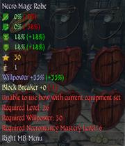 Necro Mage Robe Info