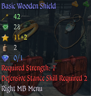 Basic Wooden Shield Info