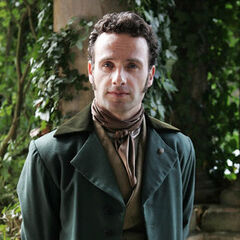 Andrew Lincoln como <i>Edgar Linton</i> em <i>Wuthering Heights</i>.