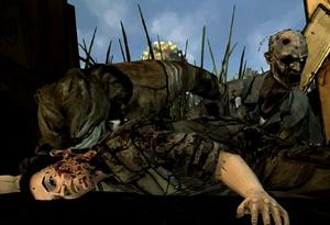 Shawn atacado por zumbis