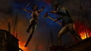 Give No Shelter - Michonne ataca
