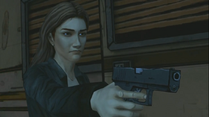 Lilly após atirar