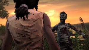 TWD Michonne - Encarando zumbi