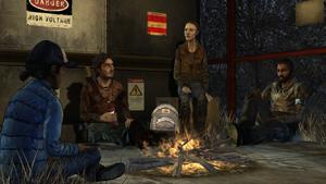 No Going Back - Grupo recolhido em volta da fogueira
