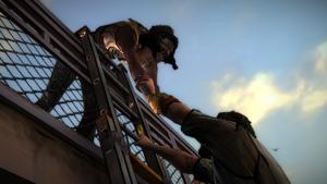 TWD Michonne - Michonne ajuda Pete