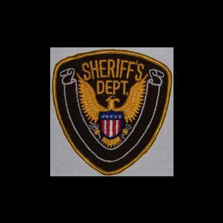 Logotipo na manga de um policial.