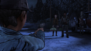No Going Back - Bonnie, Mike e Arvo fugindo