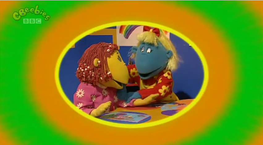 The Tweenies learn that pinching people is naughty, it can hurt and you  shouldn't do it.