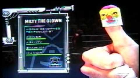 Thumb Wrestling Federation Itsy Bitsy vs Milty the Clown