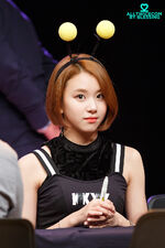 Chaeyoung at a fanmeeting