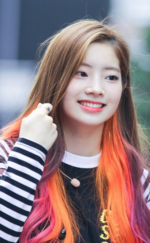 Dahyun with orange hair