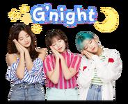 Twice Line Stickers Tzuyu, Mina, & Jeongyeon