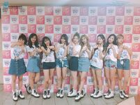 TWICE backstage at Japan concert