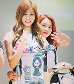 ChaeTzu hugging at fan meet