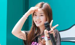 Dahyun holding a mic