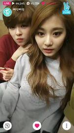 JeongTzu on V-Live together